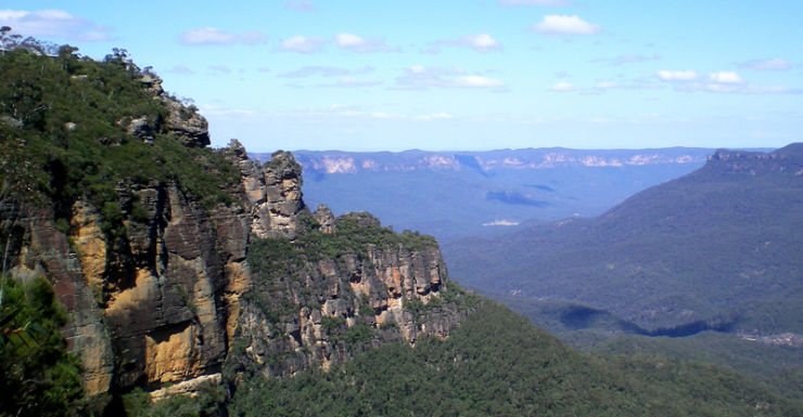 General view of the Blue Mountains