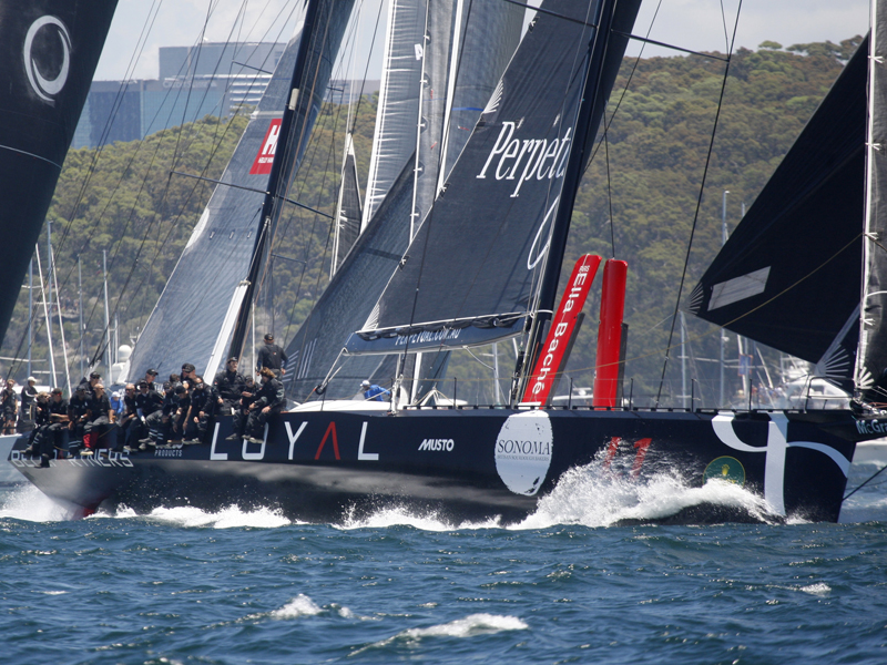 Perpetual LOYAL during the Sydney to Hobart yacht race in Sydney