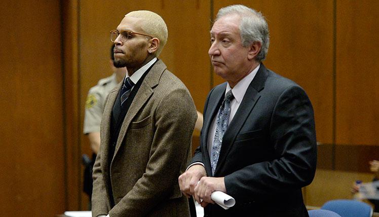 Chris Brown: In court ... again.