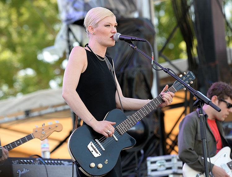 Trixie Whitley performs at the Bonnaroo Music and Arts Festival in Manchester, Tennessee in June.
