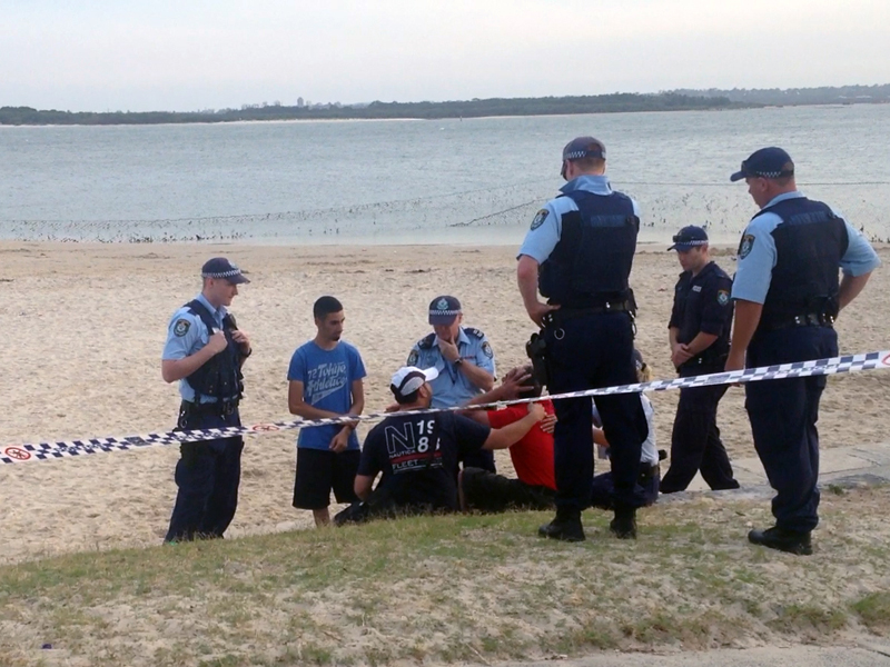 The father of a missing five-year-old boy at Dolls Point