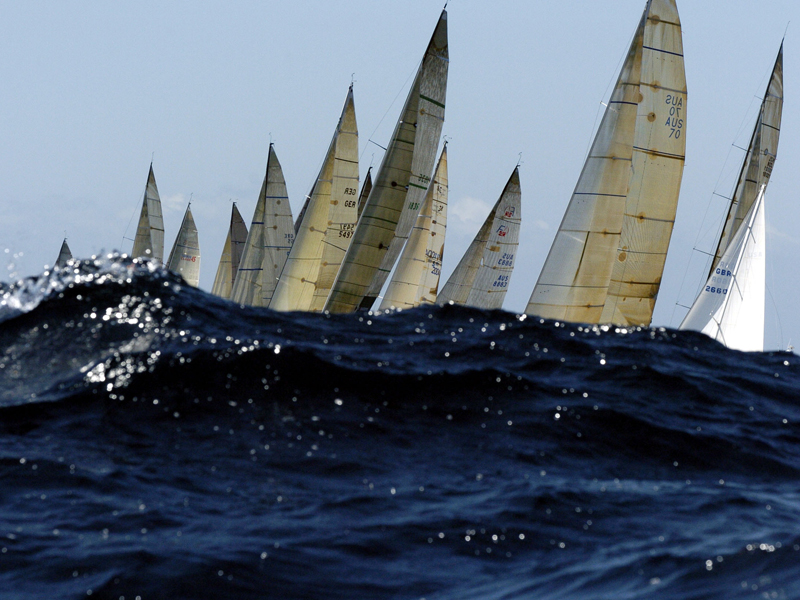 Competitors in a prelude to the Sydney to Hobart yacht race