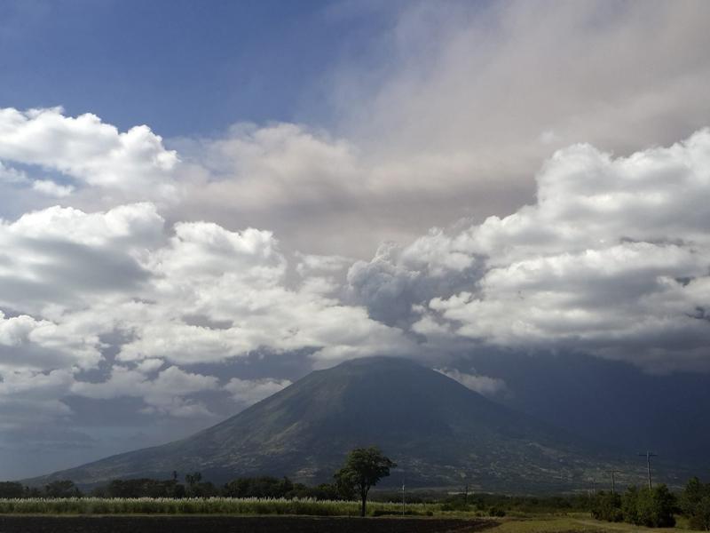 View of the volcano Chaparrastique or San Miguel, east of El Salvador