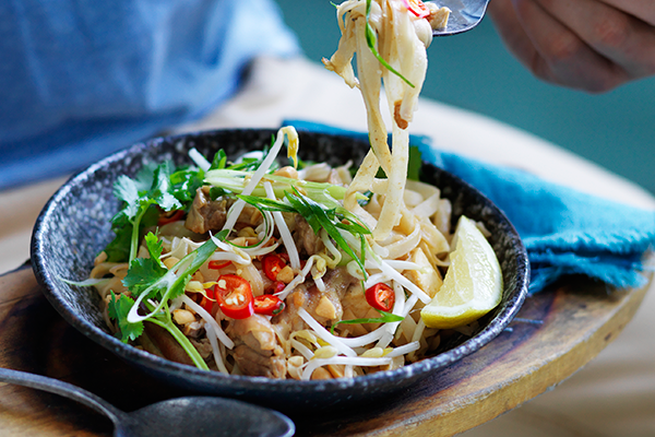 Pad Thai pops with vibrant flavours.