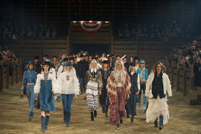 On the runway at Chanel's Metiers d'Art show. Photo: Getty
