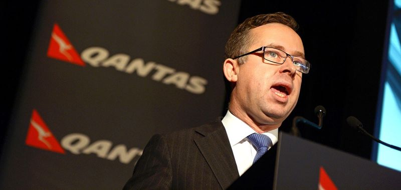 Meeting with unions ... Qantas CEO Alan Joyce.