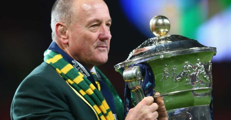 Tim Sheens with the 2013 World Cup.