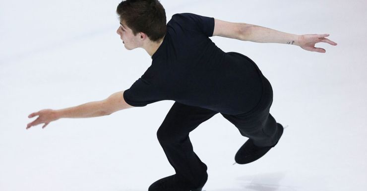 Teen figure skater Brendan Kerry.