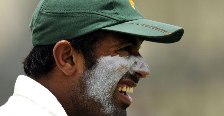 Exuberant: Pakistan's Wahad Riaz.