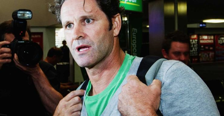 Chris Cairns at Auckland airport.