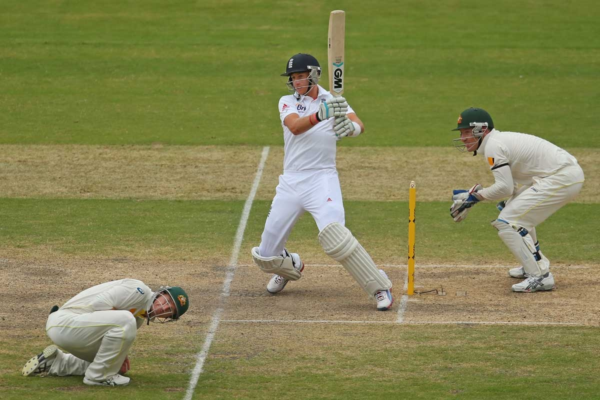 Joe Root has George Bailey ducking for cover.