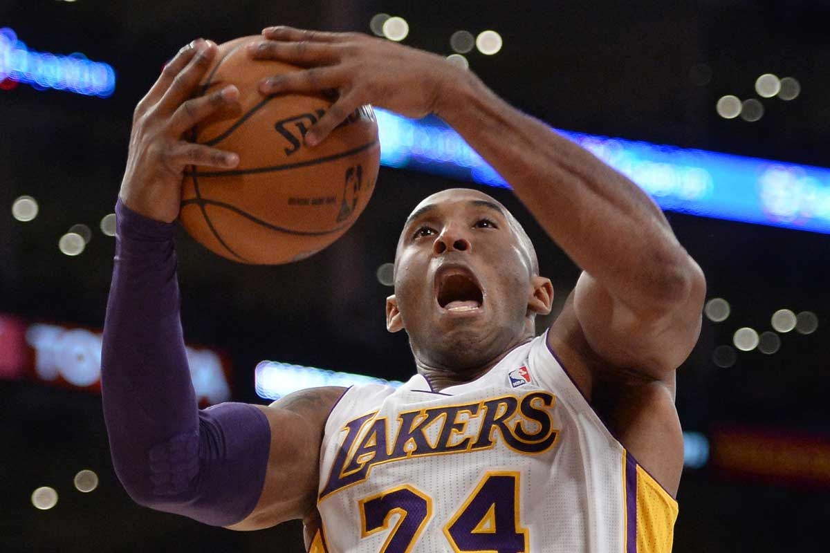 Kobe Bryant during the Lakers' loss to the Raptors.