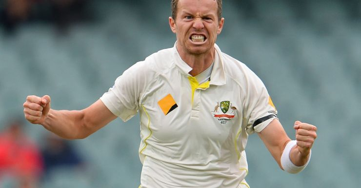 A rampant Peter Siddle.