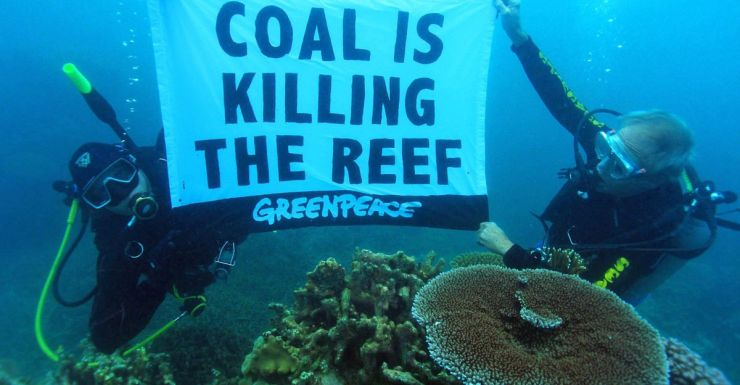 Barrier Reef protest