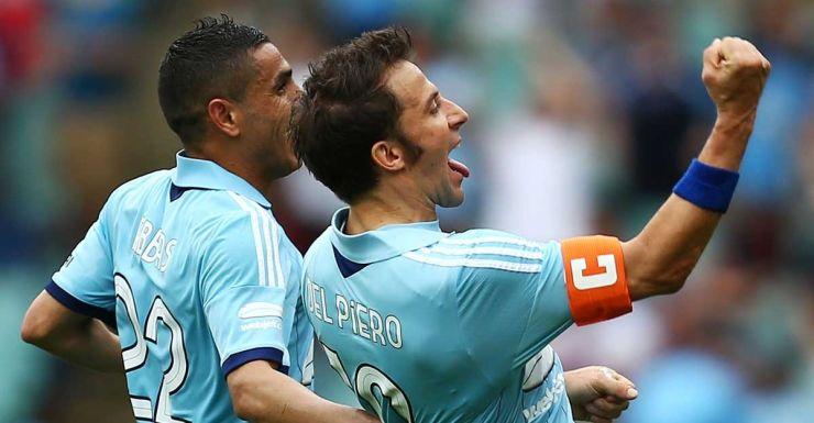 Alessandro Del Piero after scoring against Melbourne Heart.