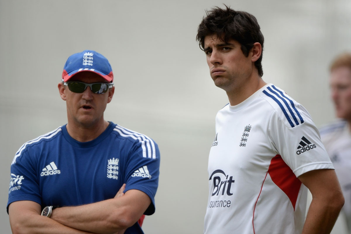 Andy Flower and Alastair Cook