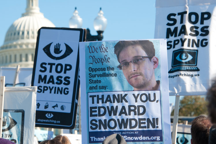 Edward Snowden protest
