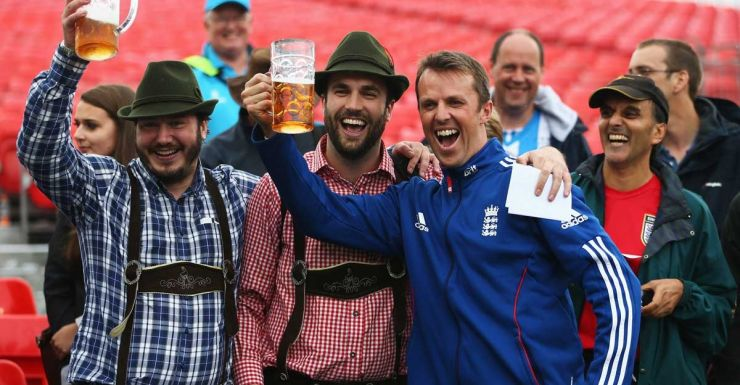 Good time lad: Graeme Swann after winning the Ashes.