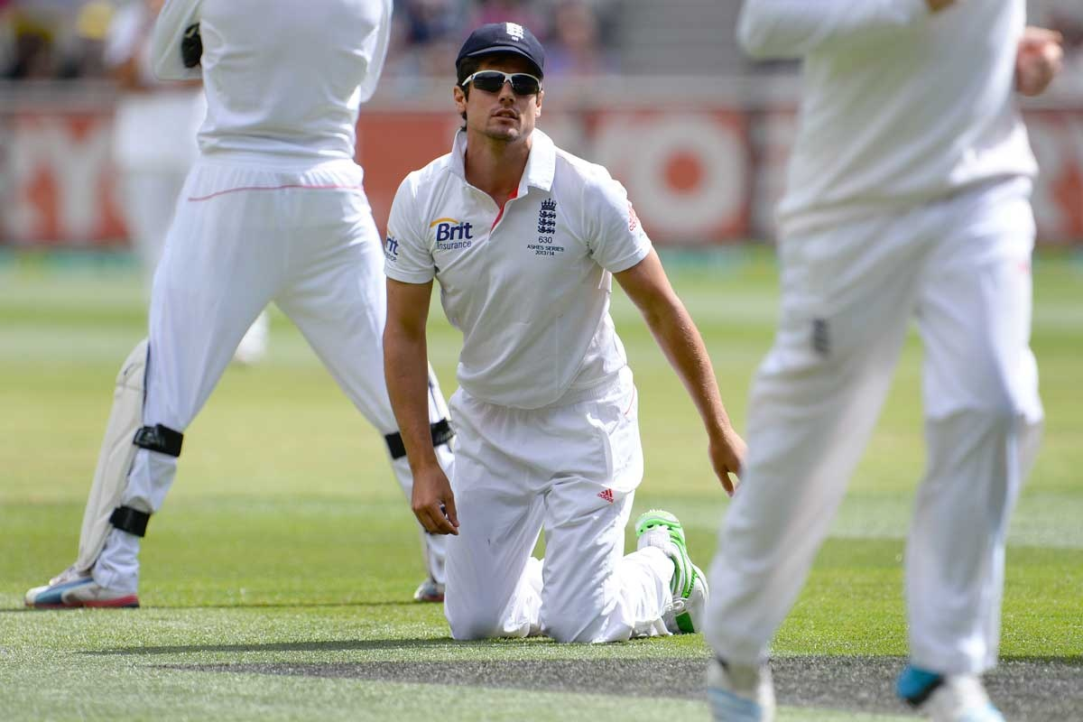 Alastair Cook after dropping Chris Rogers.