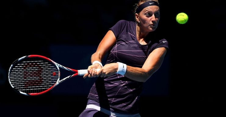 Petra Kvitova in action during the Hopman Cup.