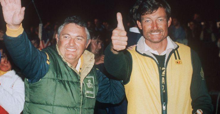 Alan Bond and John Bertrand