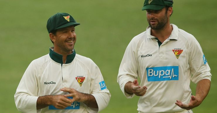 Alex Doolan (right) learnt a lot from Ricky Ponting.