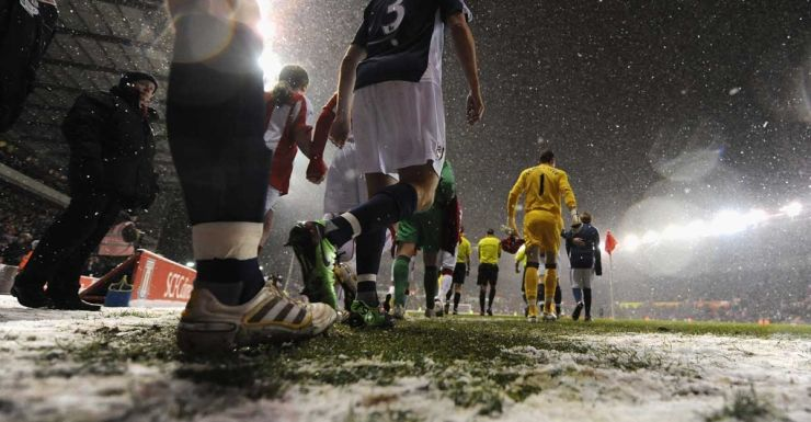 Football fans will be hoping to avoid a white Christmas.