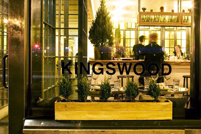 The Kingswood cafe in NYC's West Village.