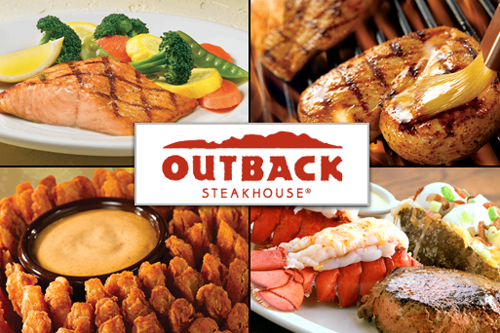 """Australian"" food at Outback Steakhouse."