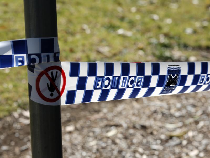 Police tape at the scene
