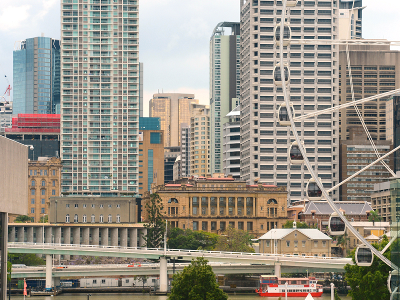 A view of the Brisbane central business district