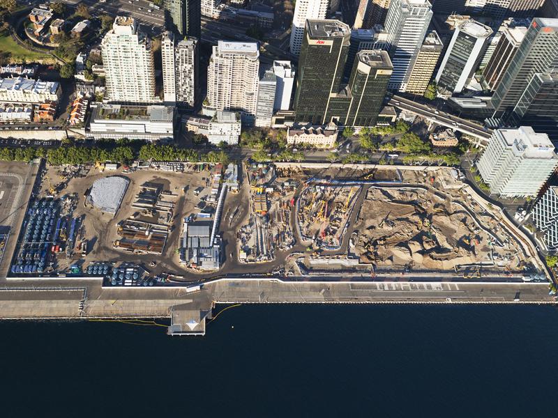 Construction at Barangaroo in central Sydney