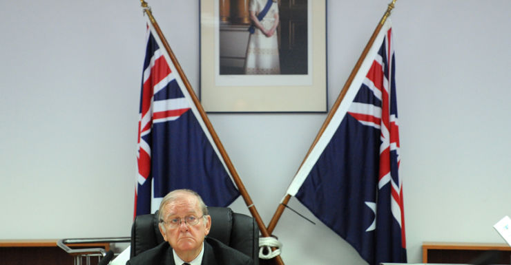 John O'Meally presides over the Defence Commission of Inquiry