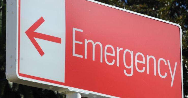 Signage around a hospital