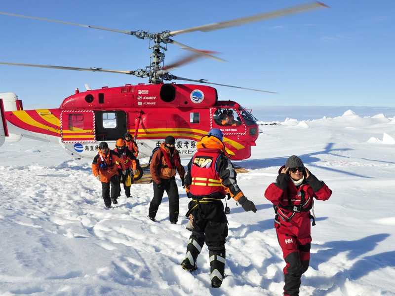 Passengers who were aboard the trapped Russian vessel in Antarctic