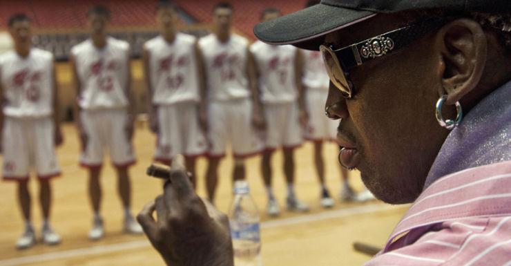 Former NBA basketball player Dennis Rodman