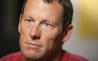 Lance Armstrong during an interview in Austin, Texas