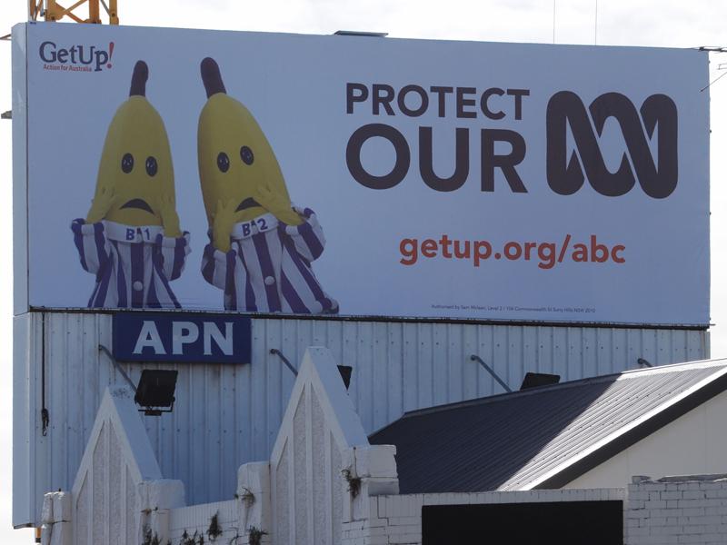 A crowd-funded billboard in Sydney