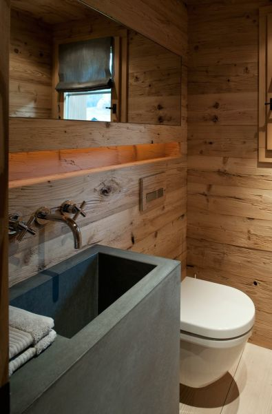 Chalet Gstaad, Switzerland, 2010; bathroom