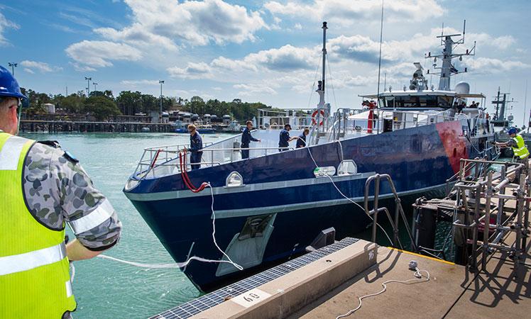 One of Australia's Cape class patrol boats, used in asylum seeker patrols.