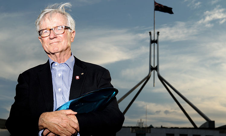 'You can't sneak up on the Australian people with constitutional change' ... Senior Australian of the Year Fred Chaney.