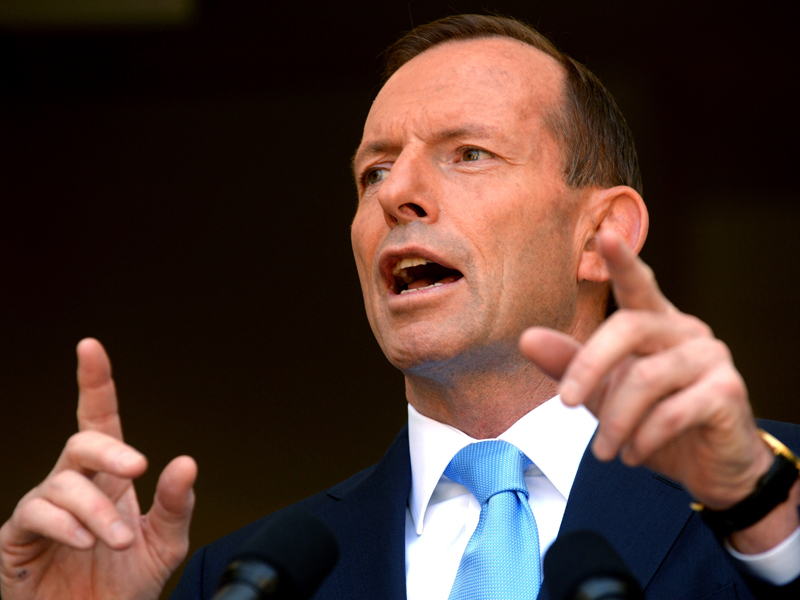 Prime Minister Tony Abbott at a press conference