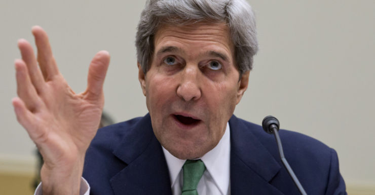 US Secretary of State John Kerry at a hearing