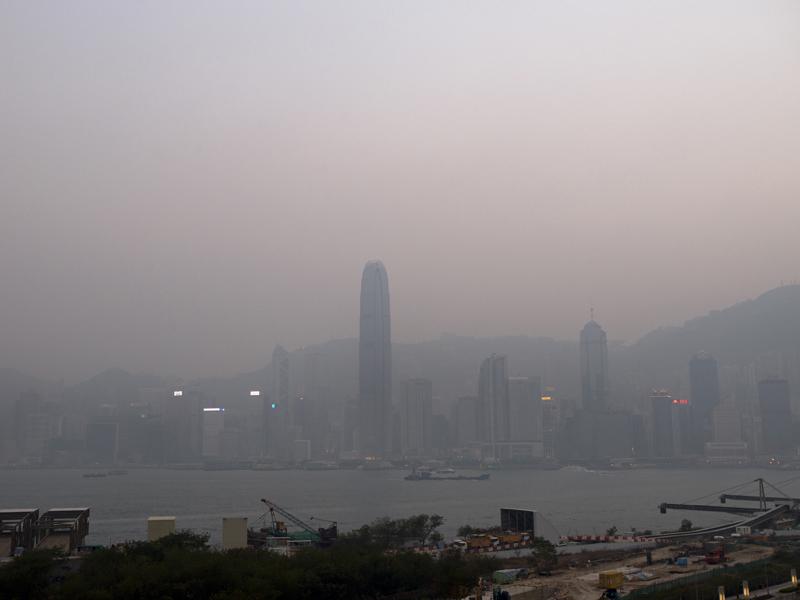 Air pollution over Hong Kong