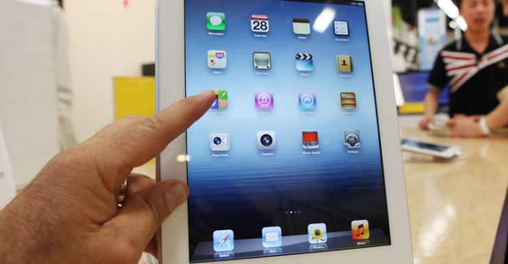 An iPad displayed in a store