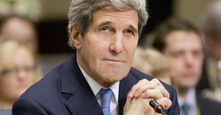 John Kerry at a humanitarian conference