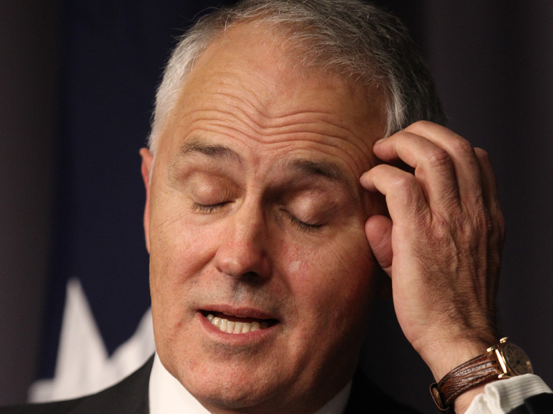 Malcolm Turnbull at a press conference