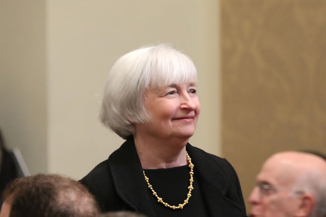 US Federal Reserve chair Janet Yellen.Getty