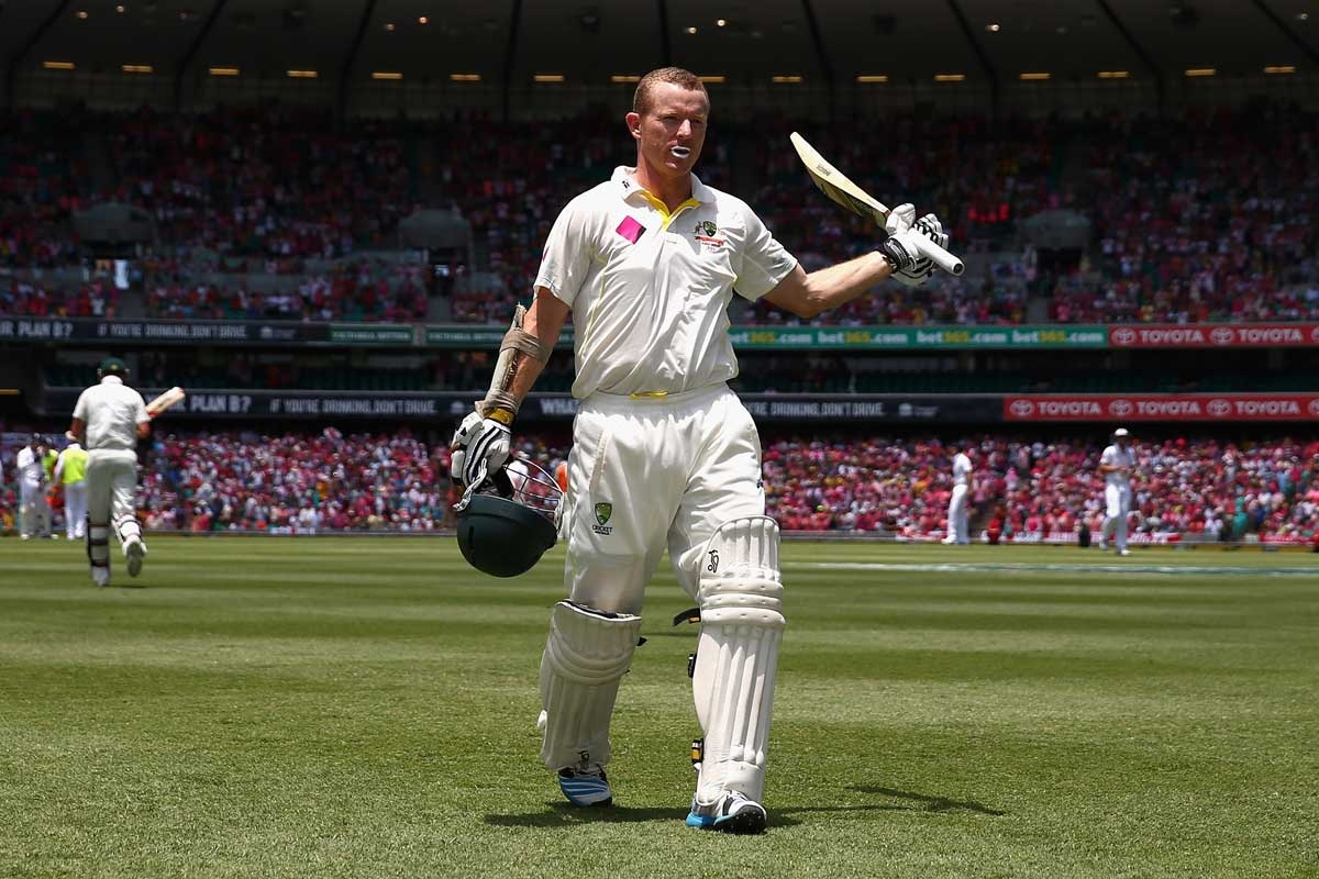 Chris Rogers after his dismissal for 119.