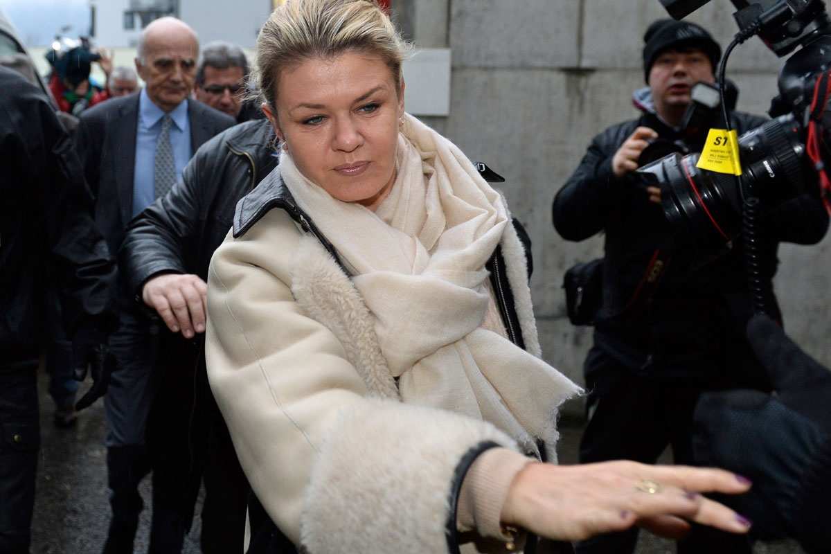 Michael Schumacher's wife Corinna visits him in hospital.